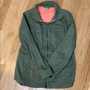 Columbia Sportswear green utility jacket
